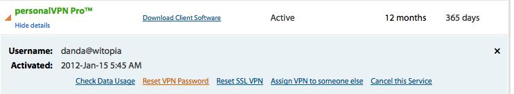 How do I reset my VPN password? - personalVPN com