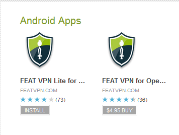 featvpn in google play store