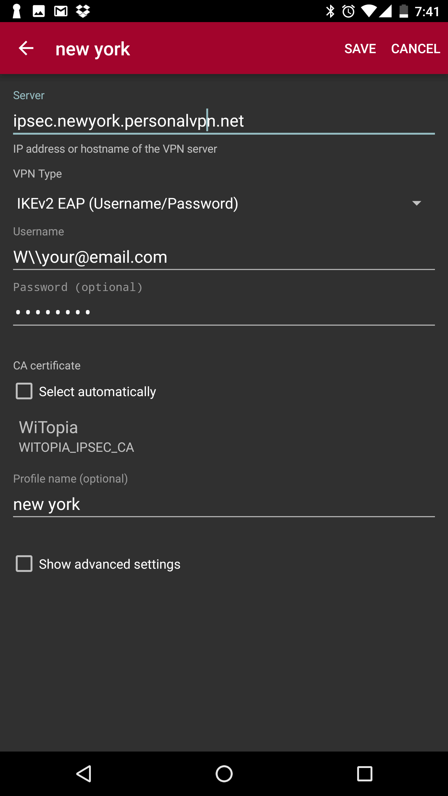 Android ikev2 ipsec setup your vpn profile will look similar to the follow example for nyc 1betcityfo Image collections
