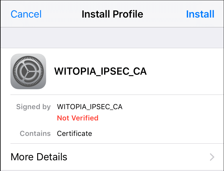 cisco anyconnect iphone import certificate
